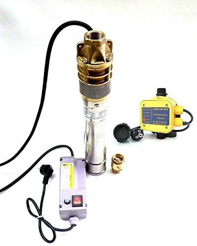 Diepbronpomp fonteinpomp SKM100 INOX + besturing DSK-5 + terugslagklep roestvrij staal 3