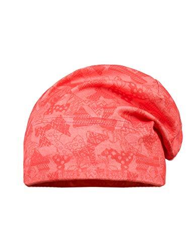 maximo Baby-Mädchen Beanie, Jersey Mütze, Mehrfarbig (Begonie-Schleifen 19), 49