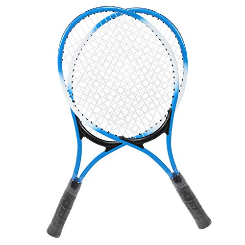 Astibym Racchetta da Tennis per Bambini, Robusta Racchetta da Tennis Confortevole di Lunga Durata Lunga Durata con Pallina da Tennis per Giardino per Lo Sport(Blu)