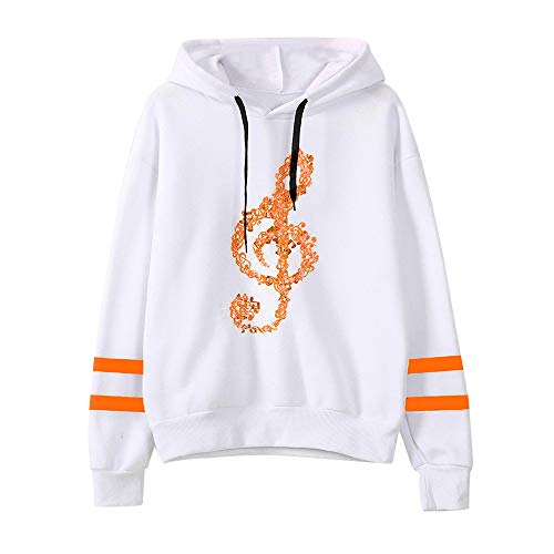 Learn More About Dacawin Winter Women Musical Notes Long Sleeve Hoodie Sweatshirt Pullover Tops (Ora...