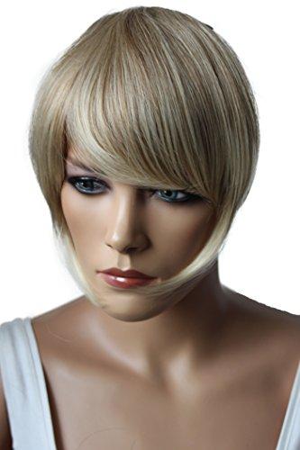 PRETTYSHOP Pony Clip In Extensions Stirnfransen Haarteil Haarverlängerung Blond Mix F15-2