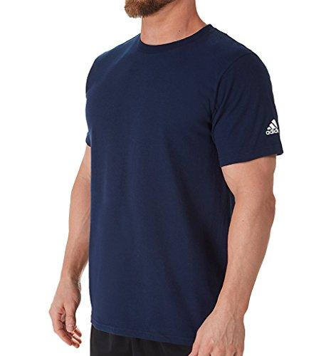 Adidas Adult Short Sleeve Logo T-Shirt, Collegiate Navy, S