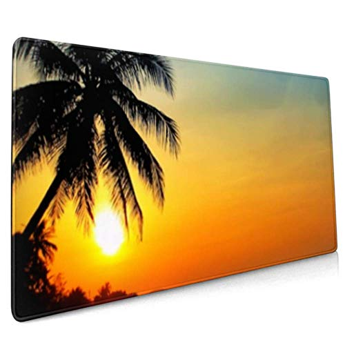 Long Mousepad (35.5x15.8in) Photo Sunrise On Sea Vietnam Desk Pad Keyboard Mat, Non-slip Base, Water-resistant, For Work & Gaming, Office & Home