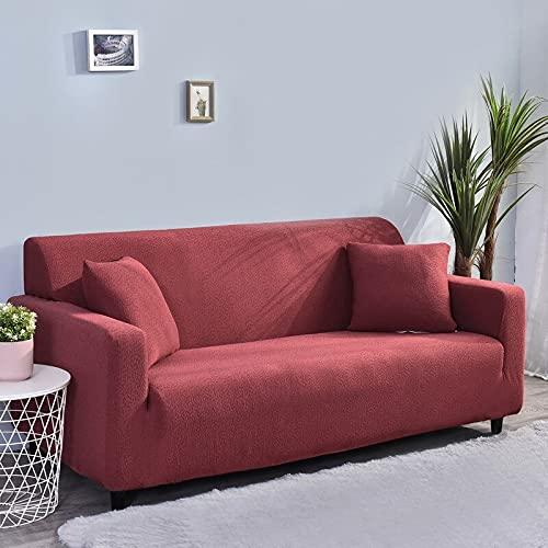 WXQY All-Inclusive-Stretch-Sofa-Schutzhülle rutschfeste L-förmige Ecksofa-Schutzhülle Haustier-Schutzsofabezug A2 1-Sitzer