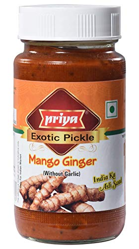 Priya Mango Ginger Pickle (Pickled Minced Mango Ginger in Oil) WITHOUT GARLIC - 300g., 10.6oz