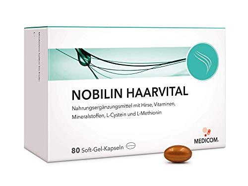 MEDICOM Haarvital 80 Soft-Gel-Kapseln für kräftiges Haar mit Kupfer, Selen und Zink, zusätzlich Hirse, Vitaminen, L-Cystein und L-Methionin