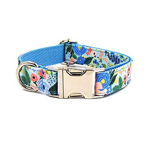 ZZCR Collar De Perro Mascota Impreso Poliéster Collar De Perro Resistente Collar De Mascota Collar De Perro Salida De Entrenamiento Deportivo Collar De Fiesta A L