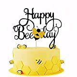 JeVenis Happy Bee Day Cake Topper Bee Cake Topper Bumble Bee Cake DecorationBumble Bee Themed Birthday Party Decorations