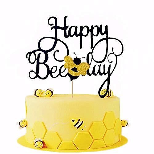 JeVenis Happy Bee Day Kuchendekoration Biene Kuchendekoration Hummel Geburtstag Party Dekoration
