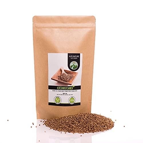 Semillas de cilantro (250g), coriandolo entero, especia 100% natural, semillas de coriandolo, sin aditivos, vegano