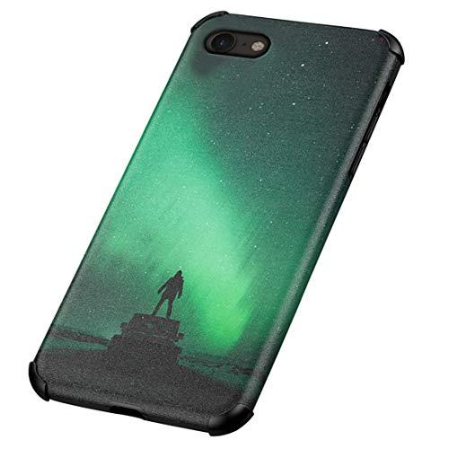 Rdyi6ba8 Funda Compatible con iPhone 7/8 Hard PC Trasera y Silicona TPU Bumper Hibrido Carcasa Anti Huella Digital Anti-Caída Caso para iPhone 7/8, Verde