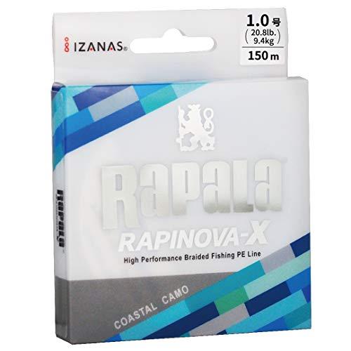 ラパラ PEライン ラピノヴァX カモパターン 150m 1.0号 20.8lb 4本編み コスタルカモ RLX150M10CC