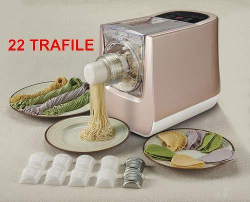 Sirge RITAPASTA Macchina per pasta fresca in casa con 22 TRAFILE di pasta - 300W - PER TUTTI I TIPI DI FARINA + KIT Ravioli