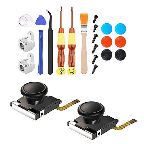 #N/A 3D Esquerda/Direita Sensor Analógico Bastão de Substituição para NS Nintendo Switch Joy-Con, Conjunto de Ferramentas de Chave de Fenda Cross e Tri-Wing