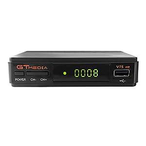 GT Media V7S HD DVB-S2 Decodificador de Receptor de TV Satelital Freesat V7 HD Actualización con Antena USB WiFi FTA 1080P Full HD Compatible con Ccam, Newcam, PVR, Youtube, PowerVu, Dre y Biss Clave