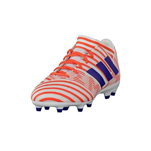 adidas Herren Nemeziz 17.3 FG Fußballschuhe, Weiß (Footwear White/Mystery Ink/Easy Coral), 36 2/3 EU