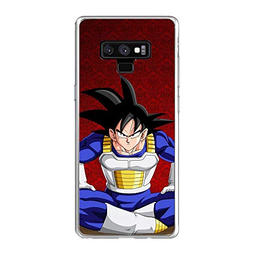 SHUAIJA Thin Clear Coque Transparent Soft Slim TPU Crystal Case Cover For Samsung Galaxy Note 9-Dragon-Ball Z Super-Goku 8