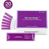 Femometer 20 test Rápido de ovulación ultrasensibles,Tarjeta de referencia de colores para identificar fácilmente el resultado