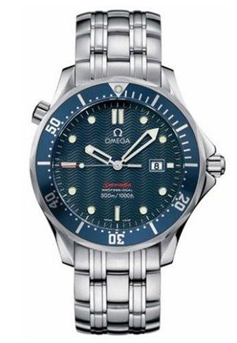 "Omega Men's 2221.80.00 Seamaster 300M Quartz ""James Bond"" Blue Dial Watch"