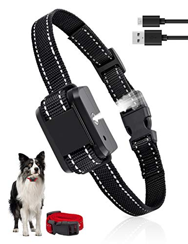 Queenmew Collare per Cani Anti-abbaio Regolabile,Collare per Abbaiare per Cani,Dispositivo Dissuasivo Innocuo per l addestramento Hmano con Spray & Vibrazione,per Razze di Taglia Piccola Medio Grande