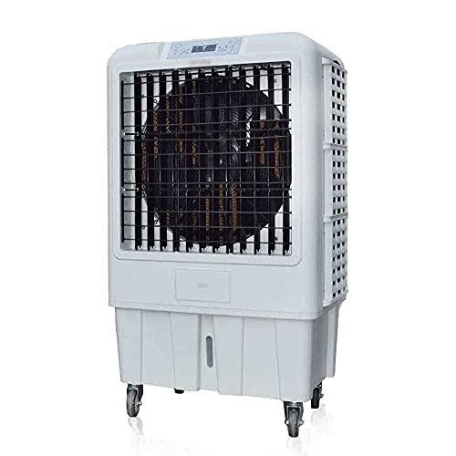 Acondicionador de aire de grado industrial, ventilador de aire acondicionado evaporativo con tanque de agua, 3 velocidades y temporizador, unidad de CAP para acampar, refrigerador de aire con mango pa