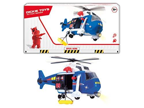 Dickie Toys 201137001 201137001-Helicopter, Spielzeughubschrauber mit Licht & Sound, batteriebetriebener Propeller, 41 cm, Mehrfarbig