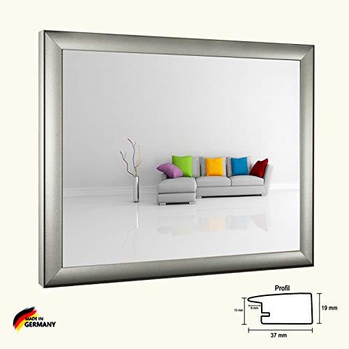 Bilderrahmen Olympia Mattsilber Silber Matt 40 x 60 cm modern stabil eckig hochwertig preiswert mit klarem Kunstglas