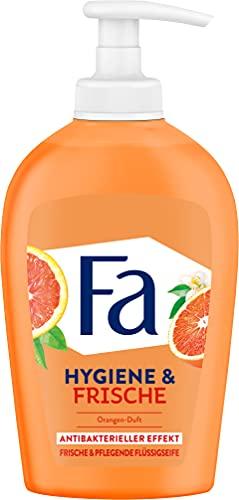 Fa Hygiene & Frische Flüssigseife mit dem erfrischenden Duft von Orange, Antibakterieller Effekt, 250 ml