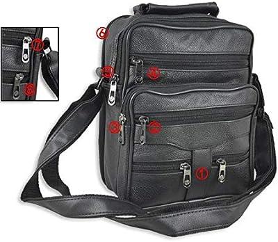 Messenger Bags Men Casual PU Leather Shoulder Man Sheepskin Handbags Zipper Multi-Functional Crossbody Bag