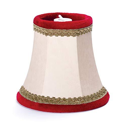 MiniSun Abat-jour en imitation cuir Rouge 100 x 95 cm