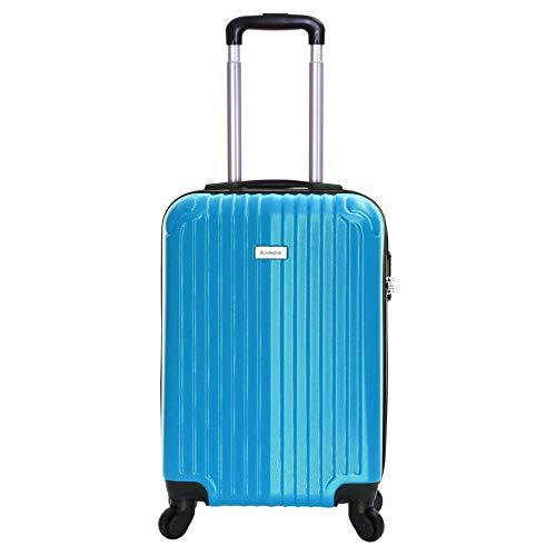 Slimbridge Hard Cabin Hand Carry-on Suitcase Luggage Bag 55 cm 2.5 kg 35 litres 4 Wheels Number Lock, Borba (Raspberry Blue)