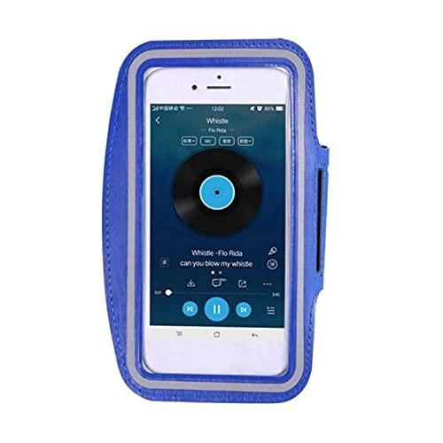 UKKO Deporte Armband Case 5.5 Inc Smartphone Handbags Sling Running Gym Brazo Banda Fitness-France,Dark Blue