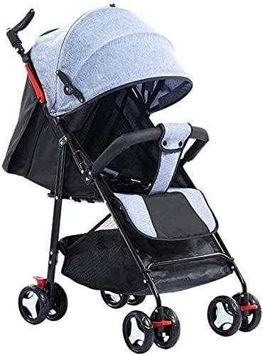 Cochecito de bebé, buggy, puede sentarse reclinable Simple Light Portátil Portátil Baby Paraguas Cuatro Ruedas Niños Bolsillo Trolley