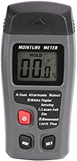 Tester Humidimètre Mobilier d'humidité en Bois, détecteur d'humidité numérique LCD d'humidité, poignée d'humidité à 2 Broc...