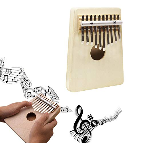 Kalimba, 10 Key Thumb Piano, Professional Portable Pine Finger Piano, Portable Handmade African Musical Instrument, Gift for Kids Adult Beginners