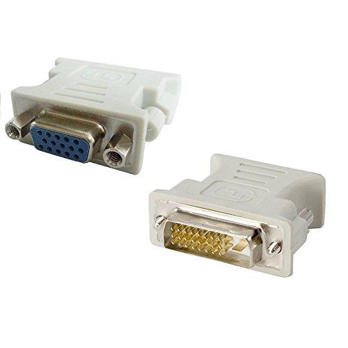 Adaptador DVI-D Macho 24+1 a VGA Hembra 15 Pines Conector Conversor