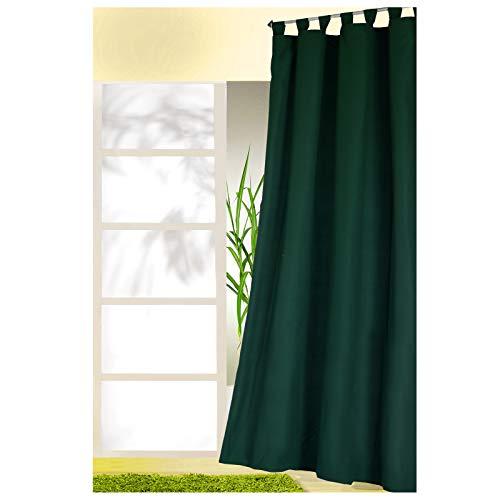 heimtexland ® Dekoschal mit Schlaufen und Kräuselband Uni Blickdicht Aber lichtdurchlässig - Vorhang einfarbig -...