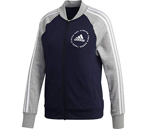 adidas Damen Sports ID Bomber Jacke, Legend Ink/Grey Heather/White, M