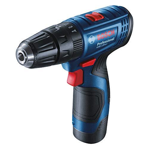 Bosch 06019G81K2 GSB-120 - Li Cordless Drill Driver, Double Battery (Blue)