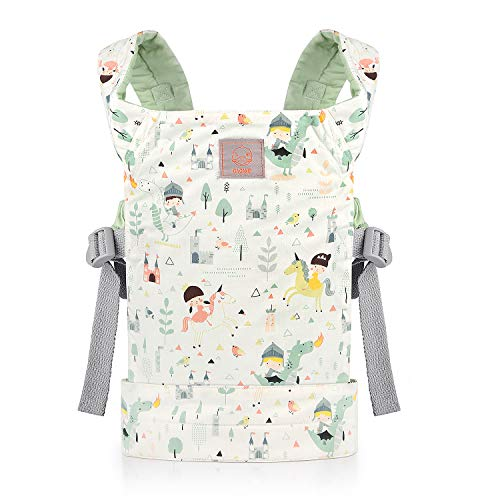 GAGAKU Dolls Carrier Front and Back Soft Cotton for Baby Girls Over 18 Months Cute Pattern