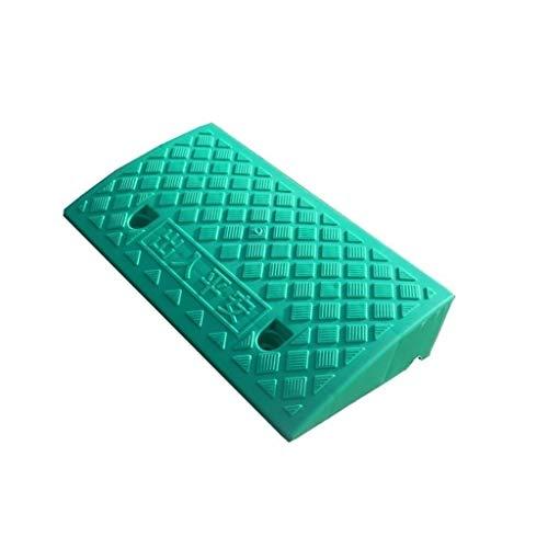 9CM Plastic Drempel Pad, Niet-slip Draagbare Driehoek Pad Club Ingang Service Ramps Grasmaaier Baby Carriage Slope Pad 50 * 27 * 9CM Geel