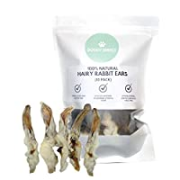 100% NATURAL FURRY RABBIT EARS: No additivites, chemicals, preservatives or other nasty stuff. Just a natural high quality treat for your dog. LOW FAT & LOW ODOUR: Great if your dog is on a diet. A perfect alternative to the more fatty treats like pi...