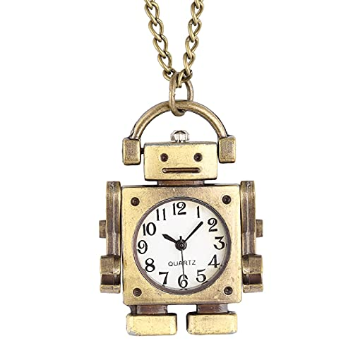 JTWMY Atractivo Collar de Reloj de Bolsillo Elegante Reloj Colgante de Cuarzo de Cara Abierta para niños Gift-E