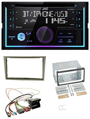 caraudio24 JVC KW-R920BT Bluetooth 2DIN AUX CD MP3 USB Autoradio für Opel Corsa D Astra H Zafira B Satin-Stone