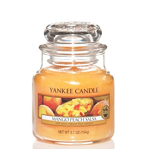 Yankee Candle Candela profumata in giara piccola | Salsa di mango alla pesca | Durata Fino a 30 Ore