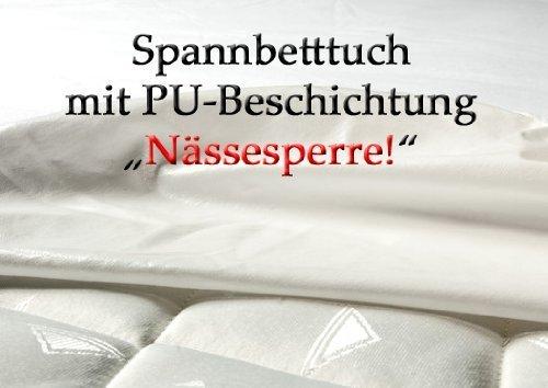 CA1075 Matratzenschutz als Spannbetttuch mit PU Beschichtung zusätzlich auch an den Seiten, Hygieneschutz, Inkontinenz, Spannlaken,Bettlaken, Pflege, (140x200cm)