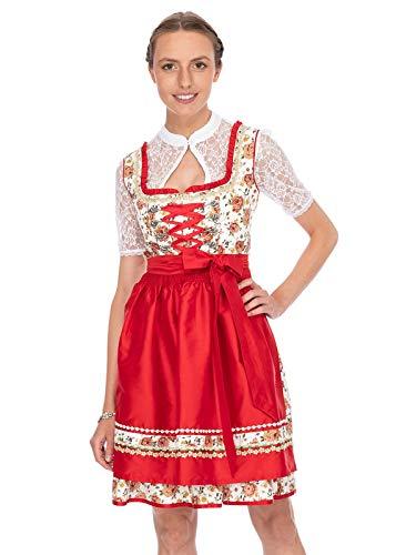 Stockerpoint Damen Astoria Dirndl, Mehrfarbig (Rot Rot), (Herstellergröße: 38)