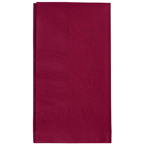 Perfectware 2 Ply Burgundy Dinner Napkins - Pack of 125ct, 2 Ply Dinner Burgundy -125