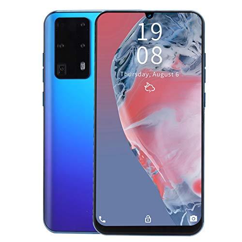 Teléfonos celulares desbloqueados, teléfonos Android desbloqueados 1GB + 16GB, 7.2in HD Waterdrop Screen 3G Dual SIM Smartphone, Quad-Core, 2MP + 5MP Camera, 2550Mah, reconocimiento facial(azul)