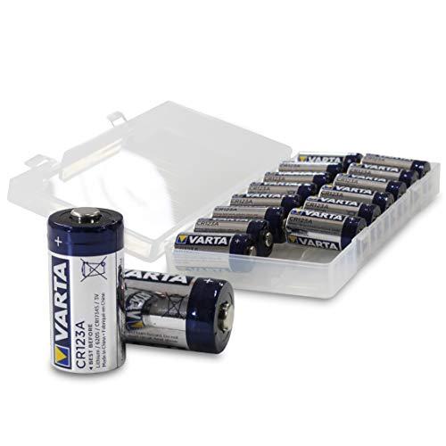 VARTA CR123A 3V Lithium Batterie | VARTA Batterie CR123A Lithium 3V (vormals VARTA Professional Lithium CR123A) in 16er-Box von WEISS - more power + | Baugleich: CR123, CR123 A, CR17345, 6205 Batterie